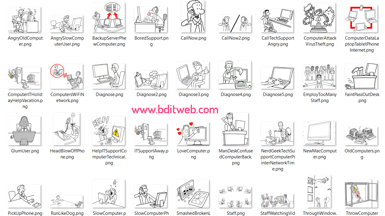 IT Support SVG and PNG Images
