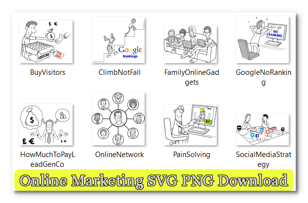 Online Marketing SVG PNG Download