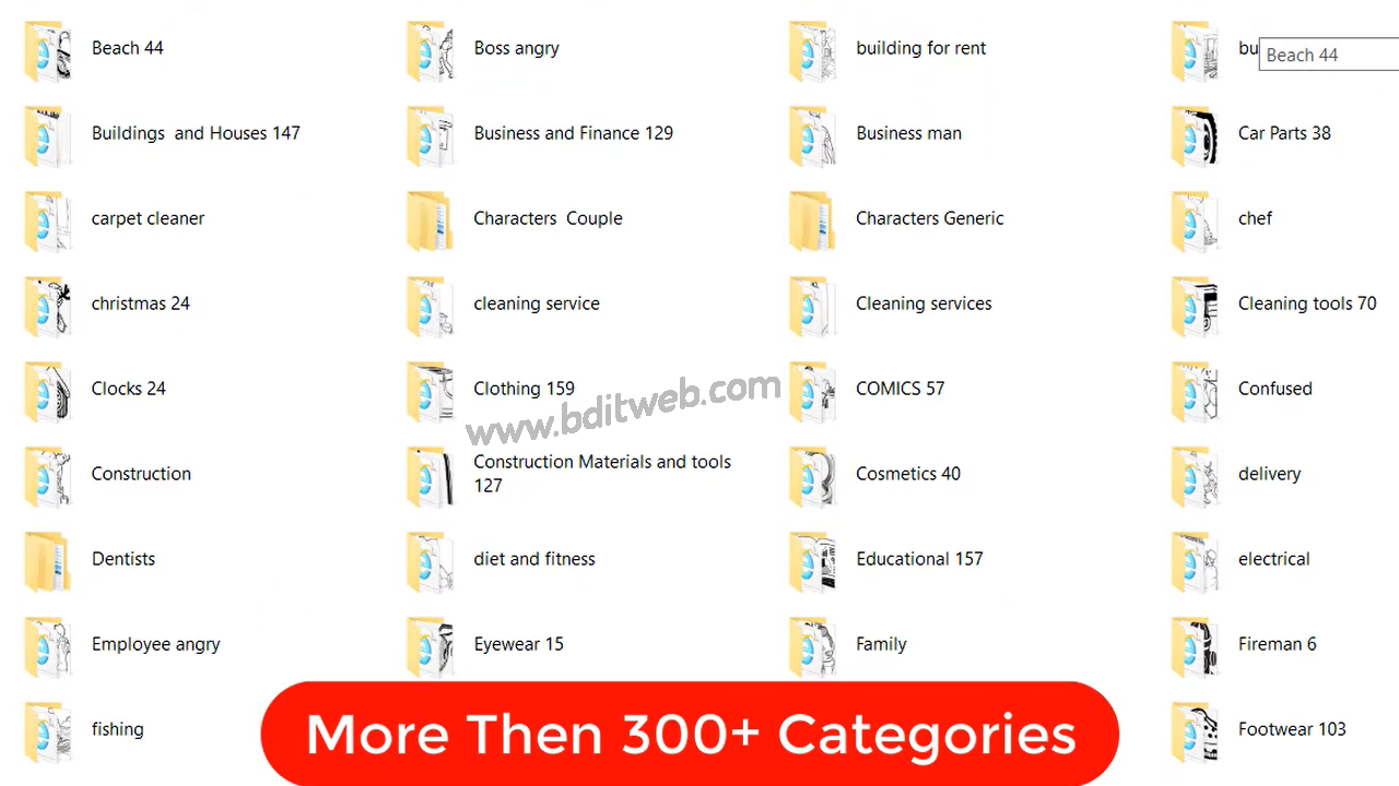SVG PNG Images 300 Categories
